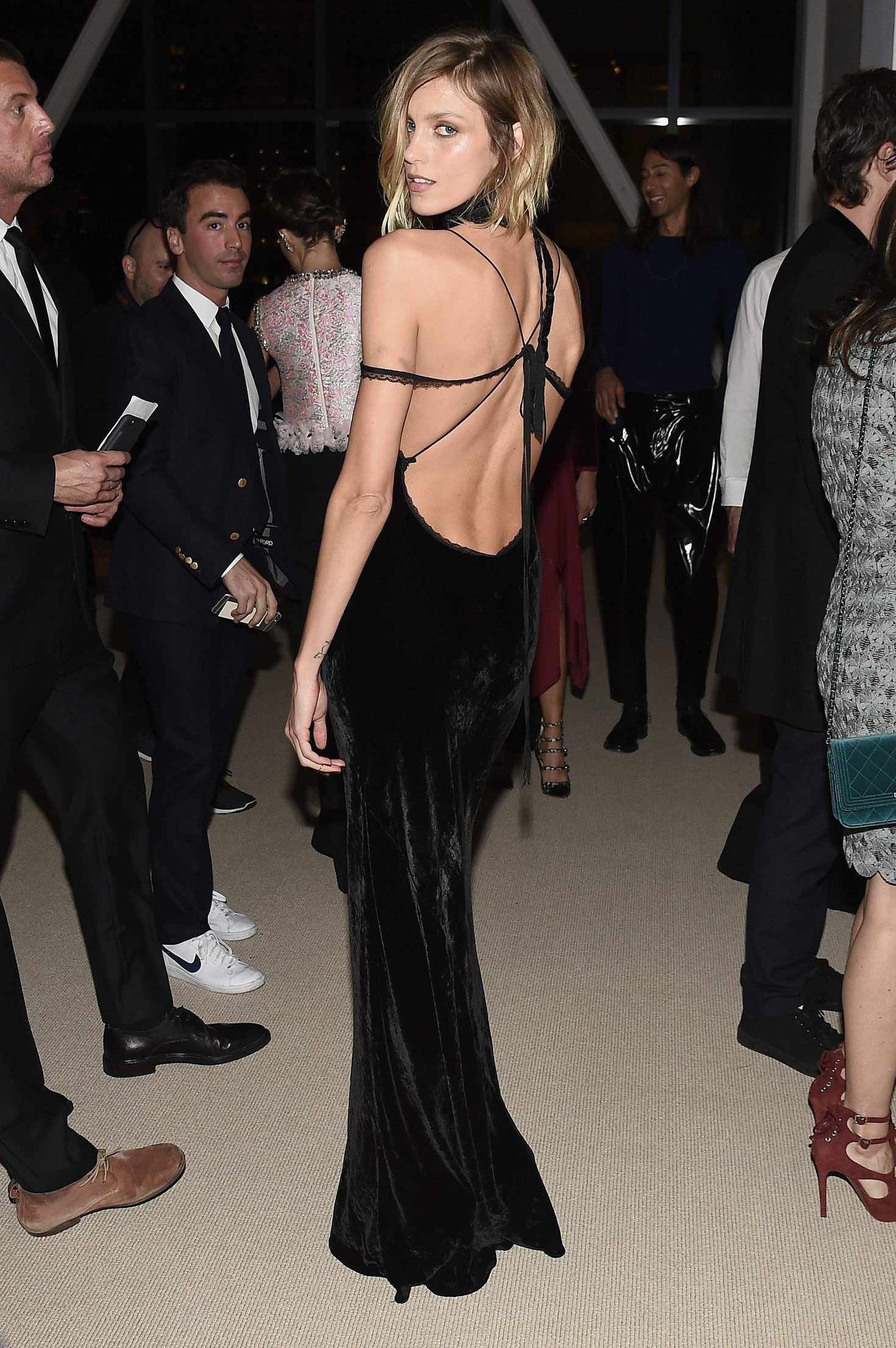 Anja Rubik Hot Gala Dress Images — Celeb Lives