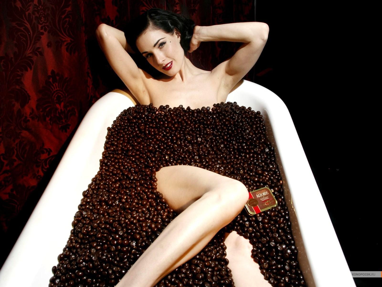 Телка в шоколаде 7 фотография