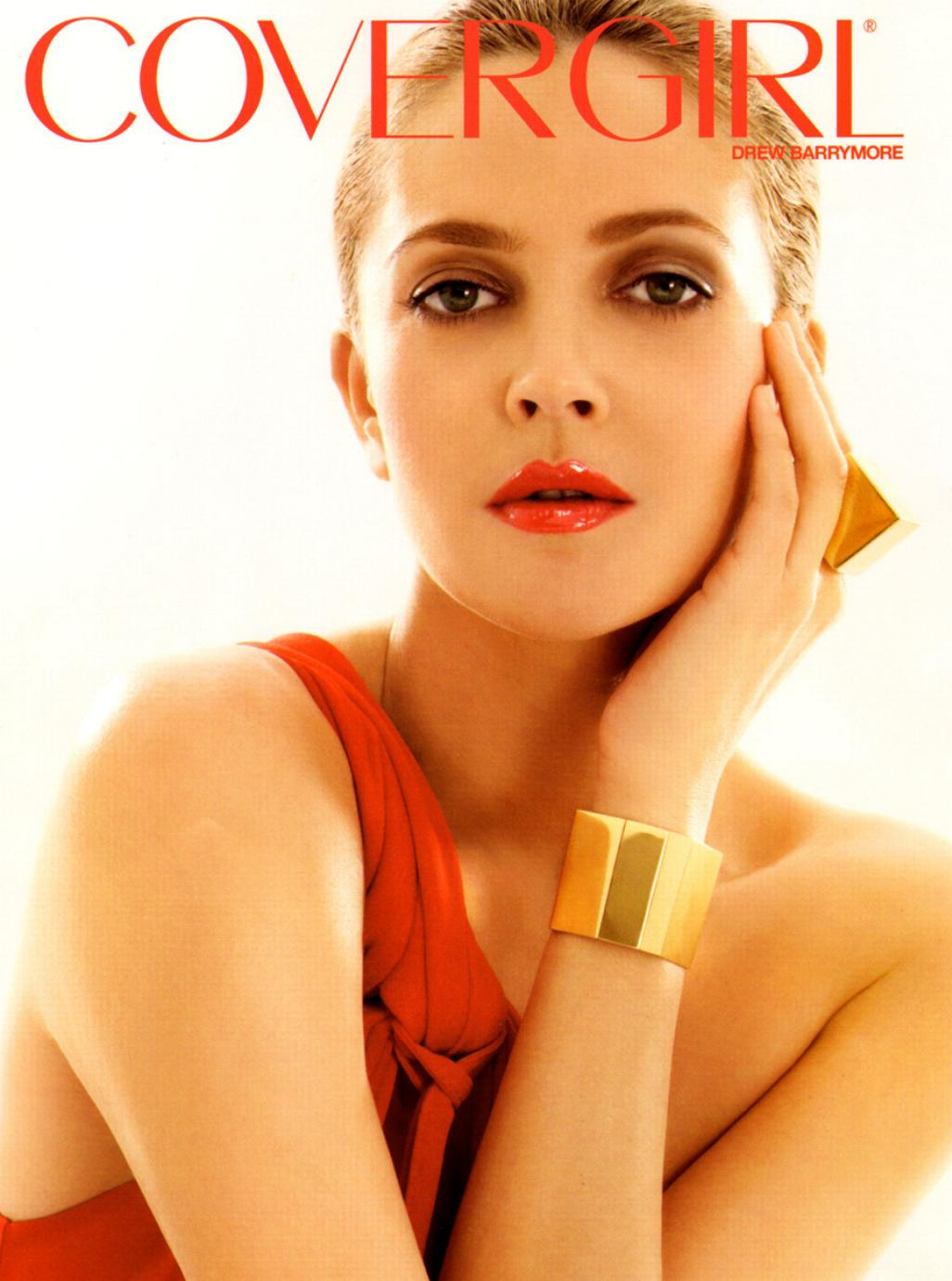 Drew barrymore covergirl summer/spring 2010 ad campaign.