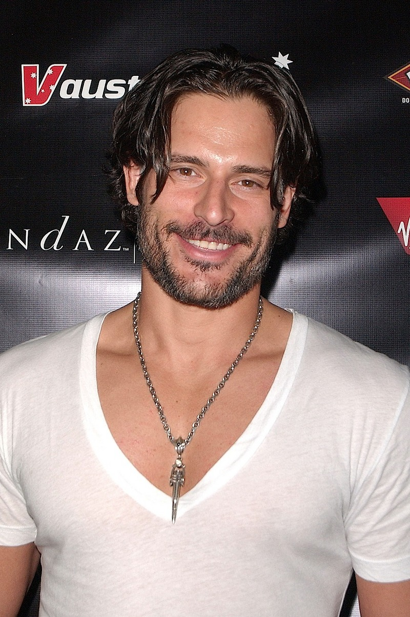 ... pecs in that tight and so damn gay t-shirt famous actor Joe Manganiello.