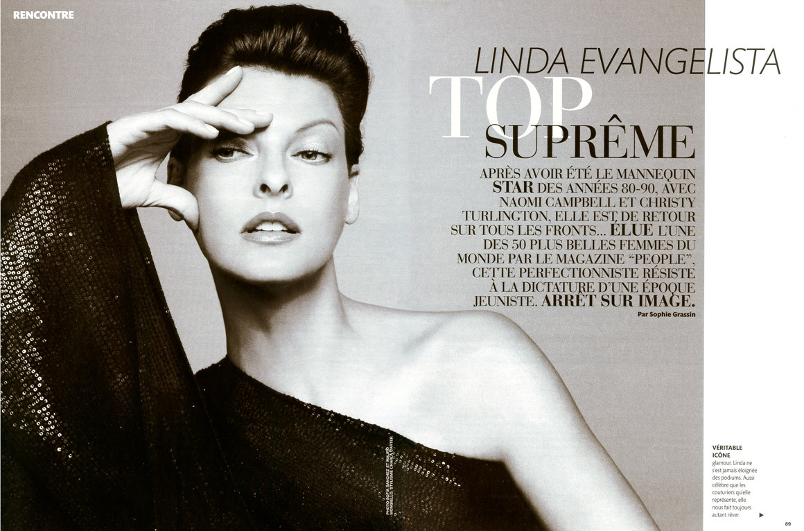 Linda Evangelista Photo 687 Of 779 Pics Wallpaper Photo