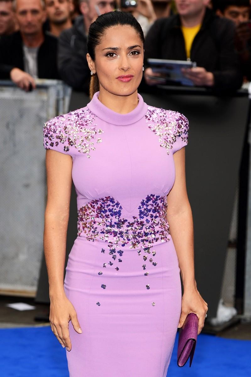 See Every Angle of Salma Hayeks Pink Dress at the LACMA Gala | Salma hayek photos, Salma hayek