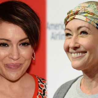 Alyssa Milano Supports Shannon Doherty