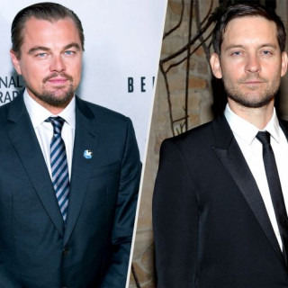 Guys' Night Out Of Leonardo DiCaprio and Tobey Maguire