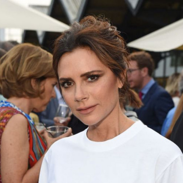 Victoria Beckham came out in a transparent blouse