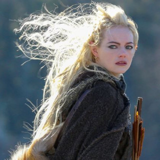Emma Stone turned into an elven archer on the set of the series