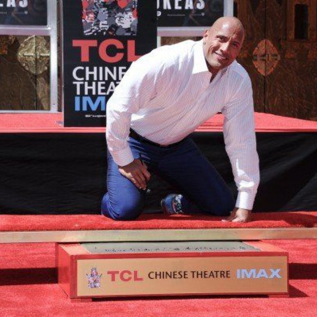Dwayne Johnson received a star on the Walk of Fame