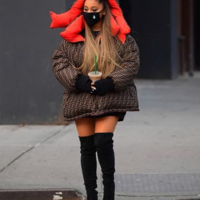 Ariana Grande showed a stylish look