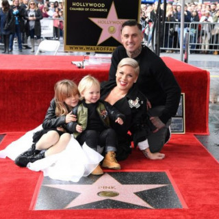 Pink got her own star on the Walk of Fame