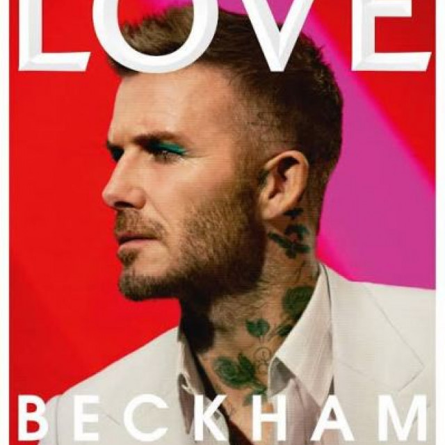 David Beckham in makeup  appeared on the LOVE magazine' cover