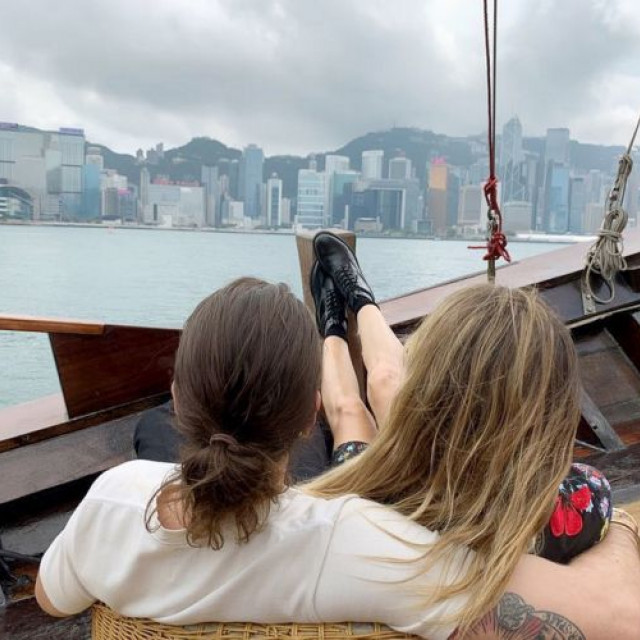 Heidi Klum and Tom Kaulitz rest in Hong Kong
