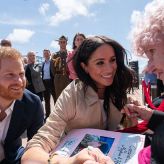 Prince Harry and Meghan Markle congratulate their most devoted fan with her 99th birthday