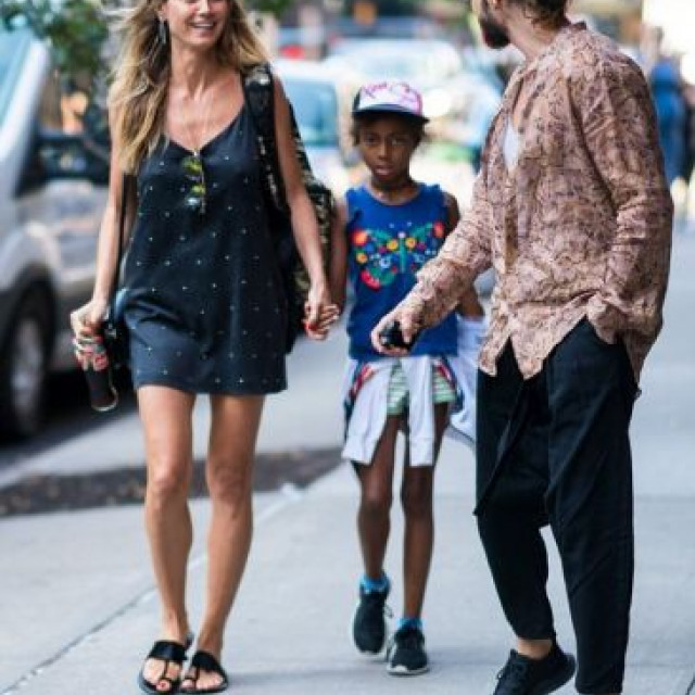 Heidi Klum with his fiance and children is resting in Paris