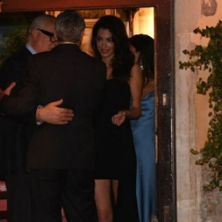 George Clooney and his wife had a romantic date in Venice