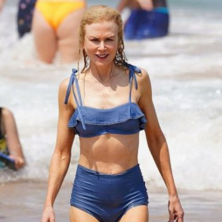 Nicole Kidman, 51, boasts the perfect figure in a swimsuit