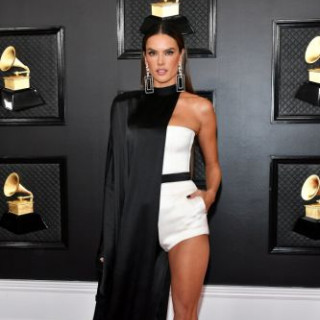 Alessandra Ambrosio appeared in a short jumpsuit