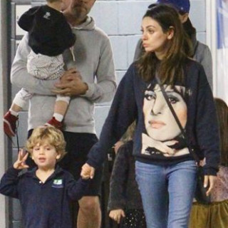 Mila Kunis with her son Dimitri went for a walk