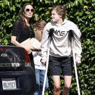 Angelina Jolie with children went shopping