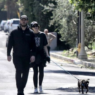 Chris Pratt and his wife went out to walk the dog