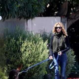 Julia Roberts is walking the dog