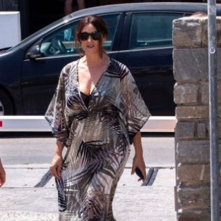 Monica Bellucci came out in a translucent dress