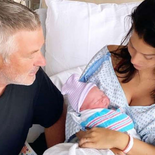 Alec Baldwin, 62, showed off his newborn son