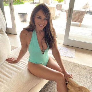 Elizabeth Hurley, 55, impresses with her figure in a swimsuit