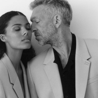 Vincent Cassel and Tina Kunaki took part in a fashion photoshoot