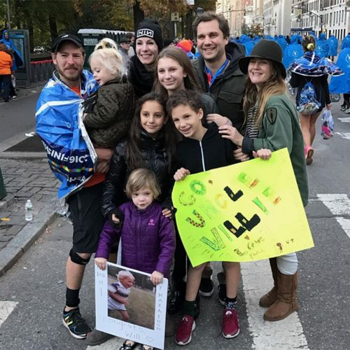 Drew Barrymore And Daughters Support Will Kopelman at the N.Y.C. Marathon