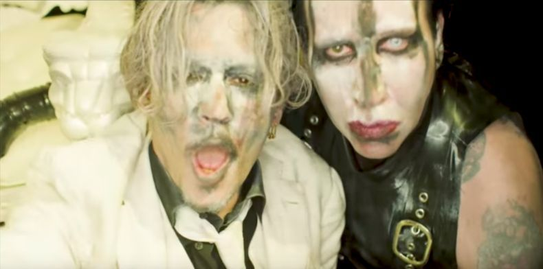 Johnny Depp starred in the video with Marilyn Manson