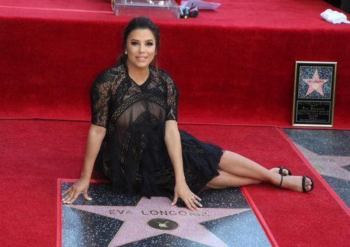 Eva Longoria is awarded a star on the Walk of Fame