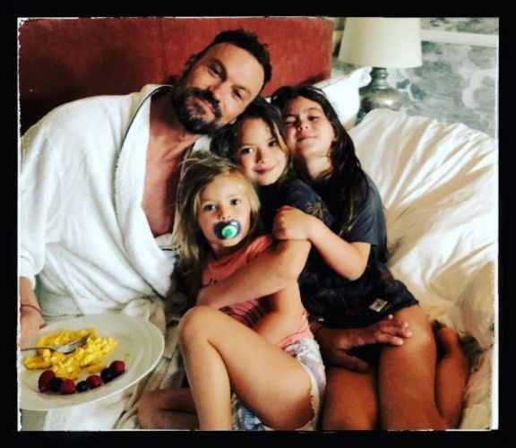 Brian Austin Green spent the weekend with the kids