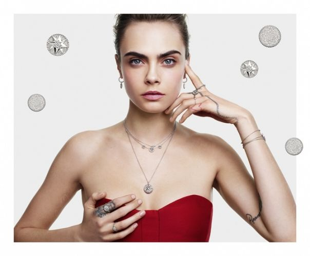 Cara Delevingne is the face of Dior's Christmas campaign