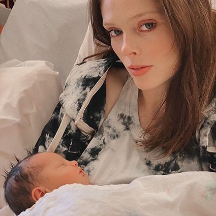 Model Coco Rocha became a mother for the third time